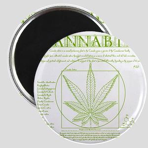 Vitruvian Grass Magnet