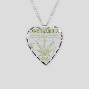 Vitruvian Grass Necklace Heart Charm