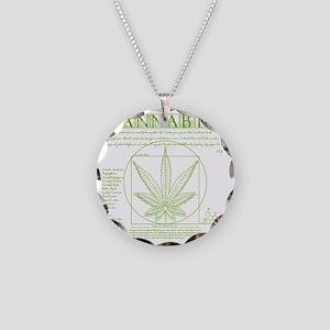 Vitruvian Grass Necklace Circle Charm