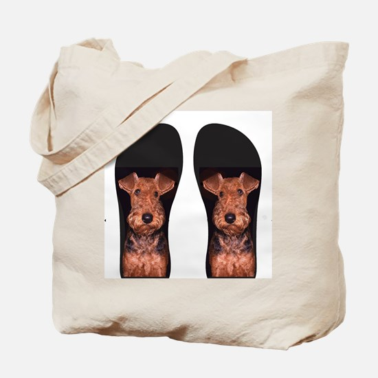 airedale flip flops Tote Bag