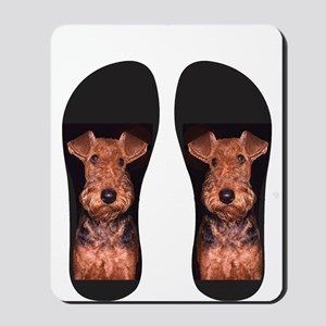 airedale flip flops Mousepad