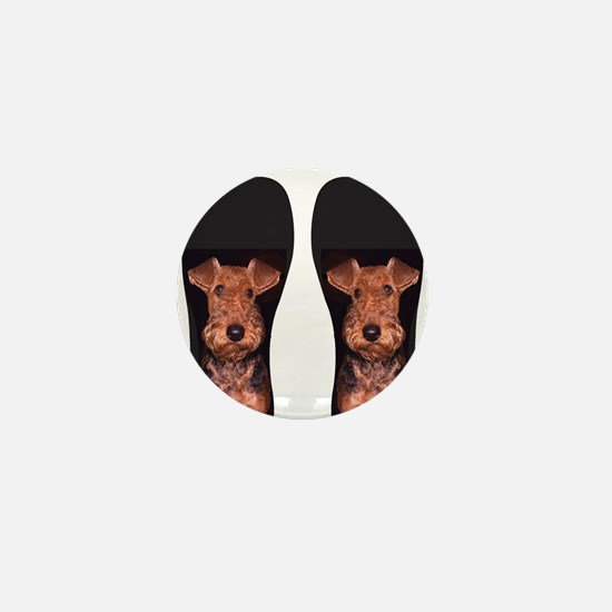 airedale flip flops Mini Button