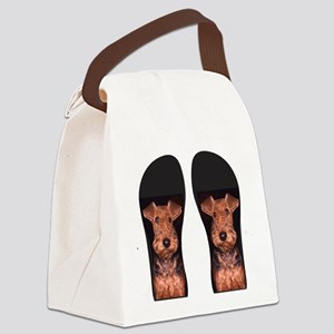airedale flip flops Canvas Lunch Bag