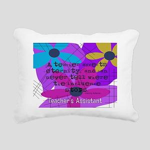 Teachers assistant 4 Rectangular Canvas Pillow