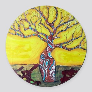 Boab Tree Bright Round Car Magnet