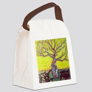 Boab Tree Bright Canvas Lunch Bag