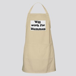 Will work for Hummus BBQ Apron