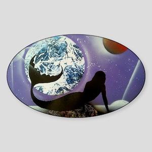 The Mermaid Sticker (Oval)