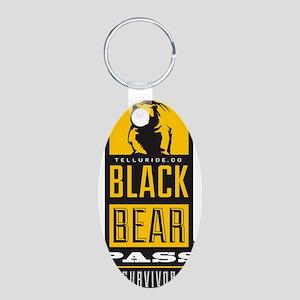 black bear pass Aluminum Oval Keychain