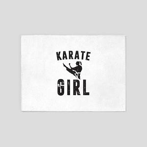 Karate Girl 5'x7'Area Rug