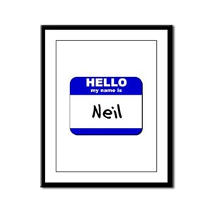 hello my name is neil  Framed Panel Print