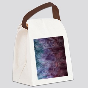Purple and Blue Swirl flask Canvas Lunch Bag