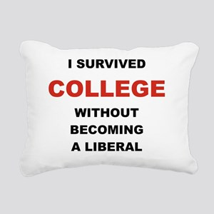 I SURVIVED COLLEGE WITHO Rectangular Canvas Pillow