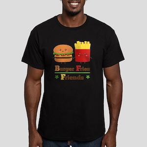 Kawaii Cartoon Burger  Men's Fitted T-Shirt (dark)