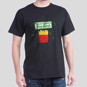 Thank God It's Fry Day! with Cute Fre Dark T-Shirt