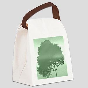metal art tree green Canvas Lunch Bag