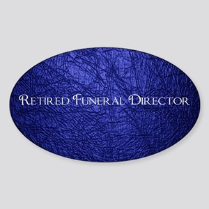 retired funeral director navy blank Sticker (Oval)
