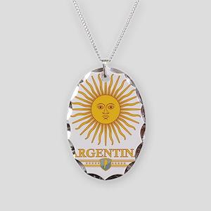 Argentina Sun Necklace Oval Charm