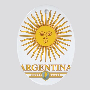 Argentina Sun Oval Ornament