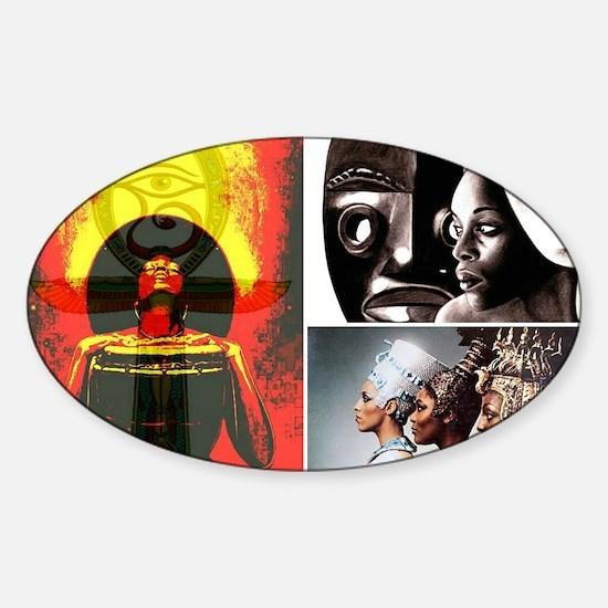 African Goddess Sticker (Oval)
