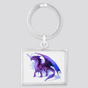 Purple Dragon Landscape Keychain