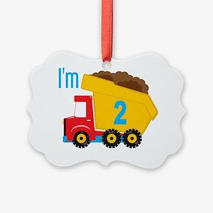 Dump Truck Im 2 Picture Ornament
