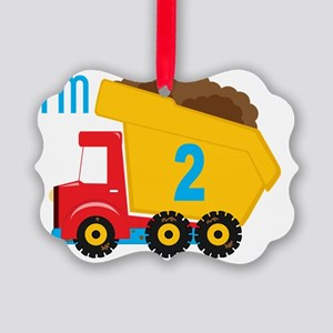 Dump Truck Im 2 Picture Ornament
