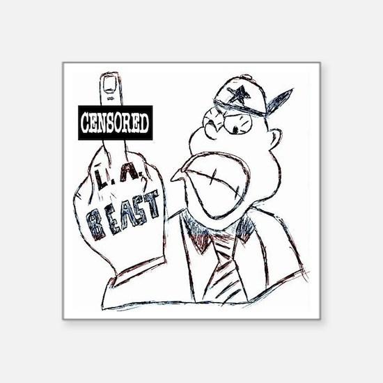 "l.a. beast Square Sticker 3"" x 3"""