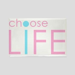 Choose Life: Pink Rectangle Magnet