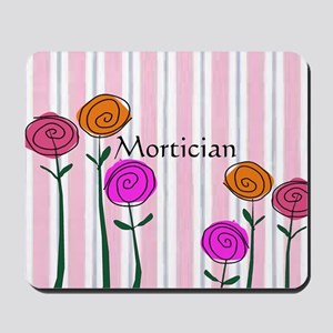 Mortician floral roses Mousepad