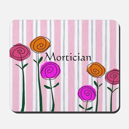 Mortician floral roses Mousepad