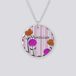 Mortician floral roses Necklace Circle Charm