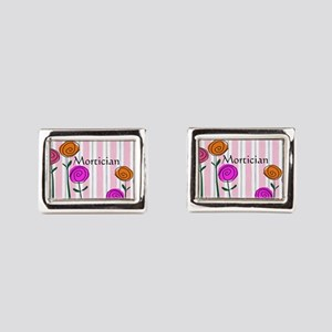 Mortician floral roses Cufflinks