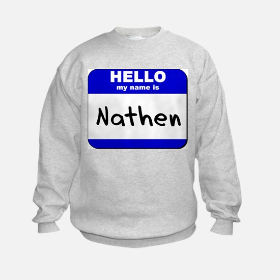 hello my name is nathen Sweatshirt