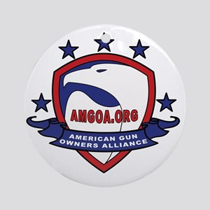 AMGOA logo Round Ornament