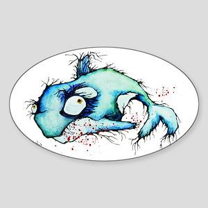 sham who the zombie whale Sticker (Oval)