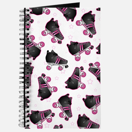 Black and Pink Roller Skates Print Journal