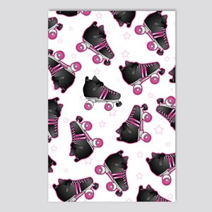 Black and Pink Roller Ska Postcards (Package of 8)