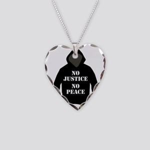 No Justice, No Peace Necklace Heart Charm