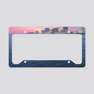 sunset on the water License Plate Holder