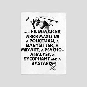 I'm a Filmmaker 5'x7'Area Rug