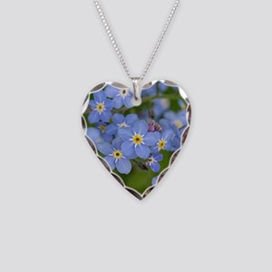 Forget me nots Necklace Heart Charm