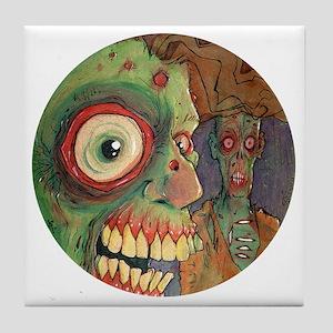 apocalyptic circle Tile Coaster