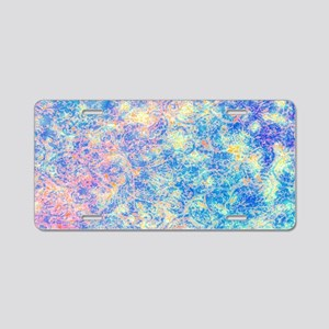 Watercolor Paisley Aluminum License Plate