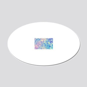 Watercolor Paisley 20x12 Oval Wall Decal