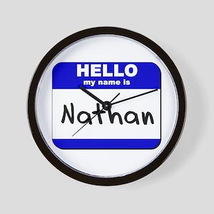 hello my name is nathan  Wall Clock