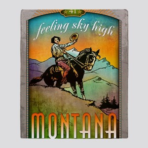 Montana Poster Art Throw Blanket