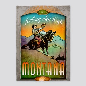Montana Poster Art 5'x7'Area Rug