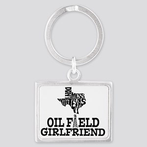 Don't Mess With Texas Oilfield  Landscape Keychain