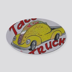 Taco Truck Oval Car Magnet